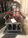 Photograph  Divinity School at Oxford  - Chair made from remains of Francis Drakes ship