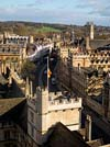 View from St Marys Church Tower in Oxford