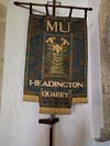 Miners Banner at Holy Trinity Church, Headington Quarry